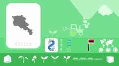 Armenia - Agriculture - Vector Animation - green - stock footage