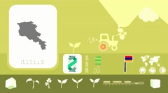 Armenia - Agriculture - Vector Animation - yellow - stock footage