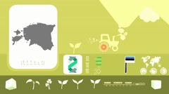 Estonia - Agriculture - Vector Animation - yellow - stock footage