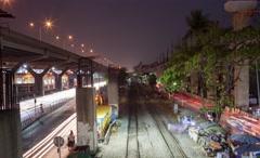 A Circulation Traffic of Donmuang at Bangkok city,Thailand Stock Footage