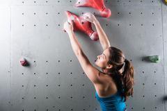 Active pretty woman  in sport centre Stock Photos