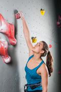 Active pretty woman  in sport centre Stock Photos