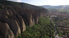 Aerial of beautiful rocky outcrops in Provence France 4K Stock Footage