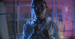 Talented Young Scientist - stock footage