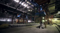 Huge old Polluting factory inside - stock footage