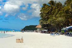 Paradise tropical beach in Philippines Boracay Stock Photos