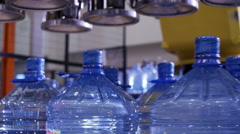 Robot in the factory of pure water Stock Footage