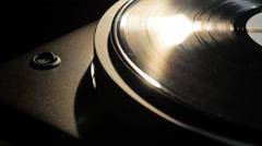 vinyl record player - stock footage