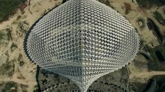 Rome, Vela designed by architect Calatrava under costruction. Drone video N. Stock Footage