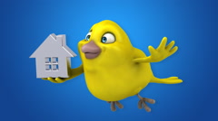 Computer animation - Fun bird Stock Footage