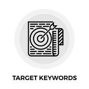 Target Keywords Line Icon - stock illustration