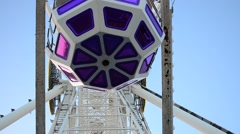 Big wheel against the sky. Stock Footage