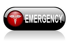 Emergency black glossy banner Piirros