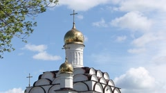 Orthodox church on the sky background Stock Footage