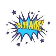 Wham Comic Speech Bubble Stock Illustration