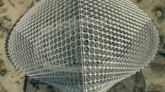Calatrava Rome, Vela under costruction. Aerial video N. Stock Footage