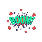 Boom Comic Speech Bubble - stock illustration