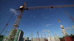 The work of a crane Stock Footage