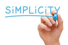 Simplicity Blue Marker - stock photo
