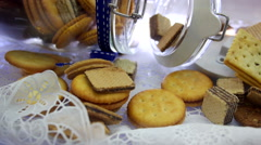 Biscuits and cookies Stock Footage