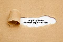 Simplicity Is The Ultimate Sophistication - stock photo