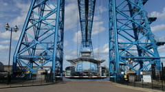 Transporter Bridge Timelapse Stock Footage