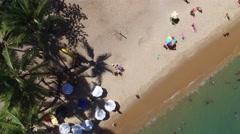Top View of Praia do Forte beach, Bahia, Brazil Stock Footage