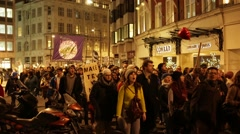 London Anti-War Protest Stock Footage