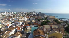 Aerial view of Salvador City in Bahia, Brazil Stock Footage