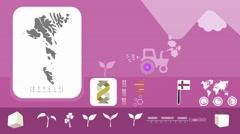Faroe Islands - Agriculture - Vector Animation - purple Stock Footage