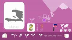 Haiti - Agriculture - Vector Animation - purple - stock footage