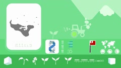 Tonga - Agriculture - Vector Animation - green Stock Footage