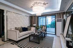 luxury living room - stock photo