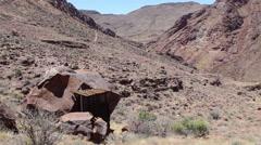 Namibia, Africa - Crater Brukkaros panorama Stock Footage