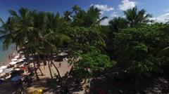 Aerial View of Praia do Forte beach, Bahia, Brazil Stock Footage