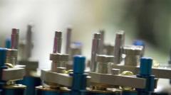 Bottle filler Machine Stock Footage
