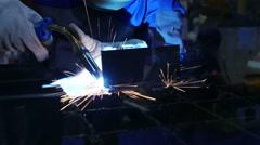 weld metalwork - stock footage