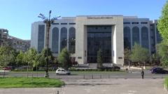 Bucharest, Romania, Union Boulevard - Circa April 2016 - Bucharest Court Stock Footage