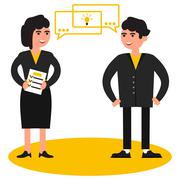business people,  birth of the idea - stock illustration