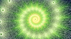 Green Spinning Spirograph Stock Footage