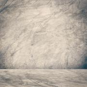 Grunge cement wall and floor background and texture with space. Stock Illustration