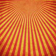 Red and Yellow grunge sunburst vintage background with space Stock Illustration