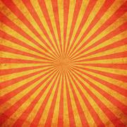 grunge sunburst vintage background and texture with space - stock illustration