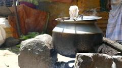Boil corn Stock Footage
