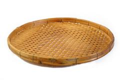 threshing basket on white background - stock photo