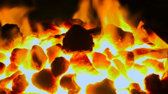 Coking coals at 1500 degrees Stock Footage