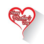 Happy mother's day greeting card design Stock Illustration