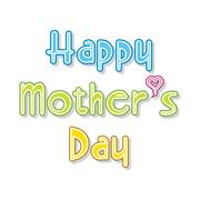happy mother's day greeting card design - stock illustration
