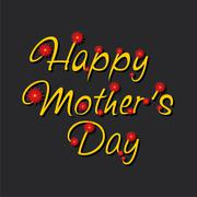 Happy mothers day greeting card design Stock Illustration