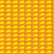 Mango fruit pattern design Stock Illustration